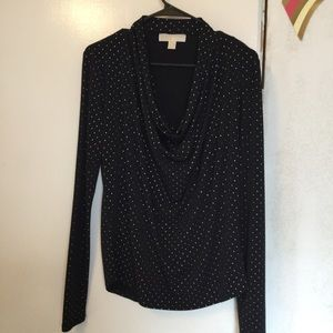 Michael Kors black long sleeved top